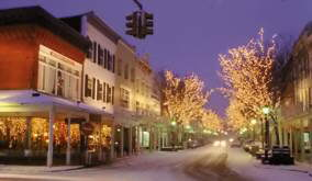 Uptown Kingston in winter